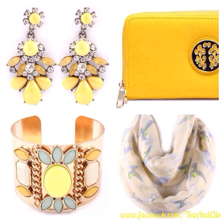 Splash of yellow for the start of your week! Pop on over to www.facebook.com/Tea&Elle to see more