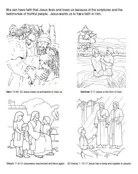 primary 3 lesson we can have faith in jesus christ coloring page