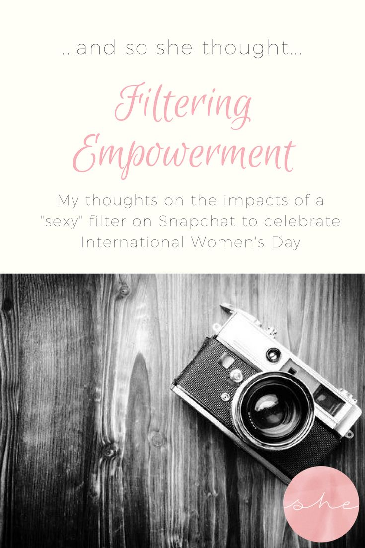 Filtering Empowerment - I share my thoughts about the way Snapchat celebrated International Women's Day by providing a sexy scientist filter, and how this reenforces the idea that women are allowed to best smart, as long as they are still pretty.
