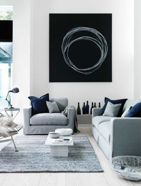 25+ best ideas about wohnwand schwarz weiß on pinterest | schwarze ... - Wohnideen Weiss Farben Modern Interieur