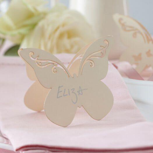 Schmetterling Tischkarte – Hochzeitsportal24