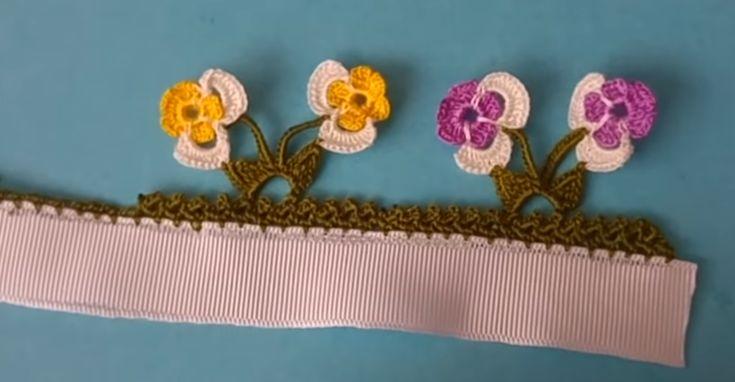 Yeni Çiçekli Tığ Oyası Örneği ,  , Yepyeni bir menekşe oyası yapımı hazırladık. Tığ oyaları sevenler için güzel ve zarif bir örnek. Yeni çiçekli tığ oyası örneği. Men...