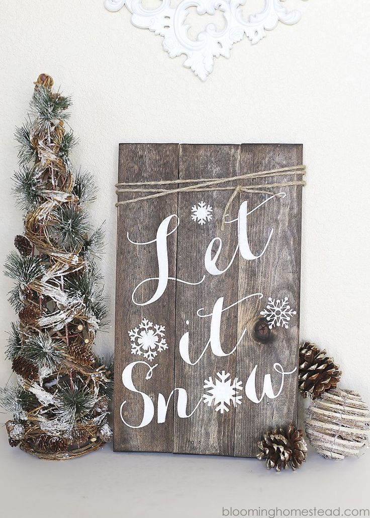 DIY Winter Woodland Sign - Blooming Homestead                                                                                                                                                                                 More