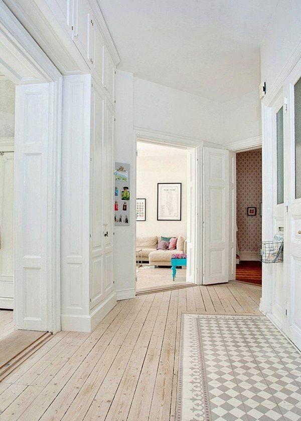 Le parquet blanchi dans la décoration