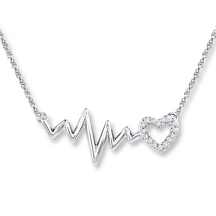 Kay - Heartbeat Necklace 1/20 ct tw Diamonds Sterling Silver