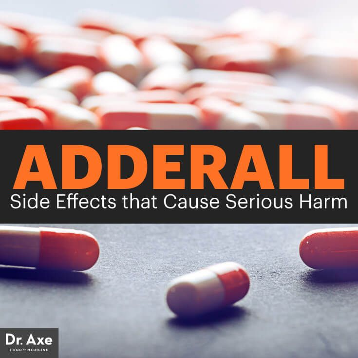 Adderall side effects - Dr. Axe http://www.draxe.com #health #holistic #natural
