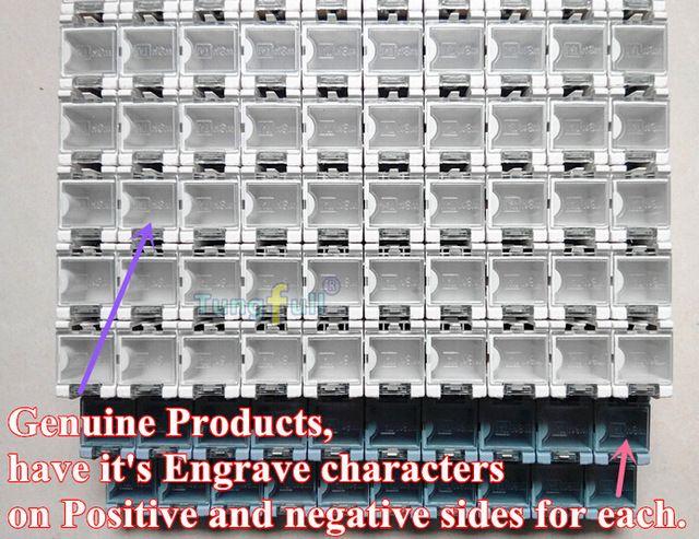 100 шт. SMD SMT ящики для хранения контейнер компонентов электронного случай комплект 25x31.5x21.6 мм цена завода