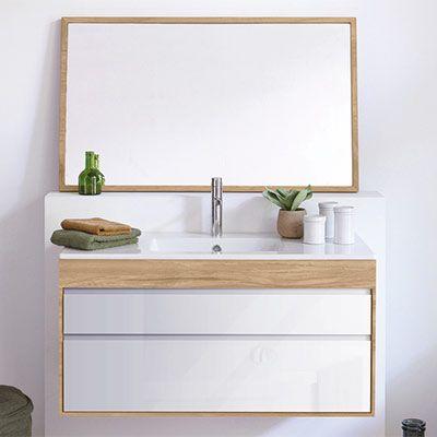 streamline meubles de salle de bains en bois massif espace aubade - Meuble Delpha Unique Onde
