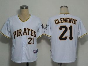 MLB Pirates #21 Roberto Clemente White Cool Base Stitched Jersey