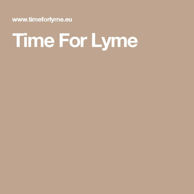 Time For Lyme