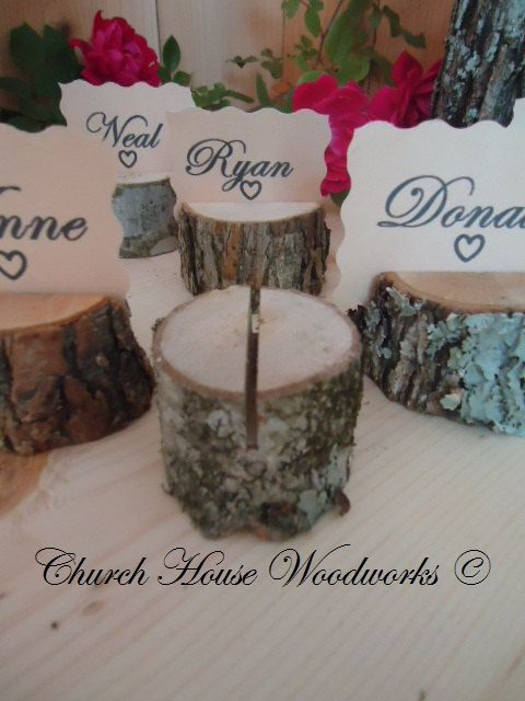 100 rustic place card holders tree card by ChurchHouseWoodworks, $74.95