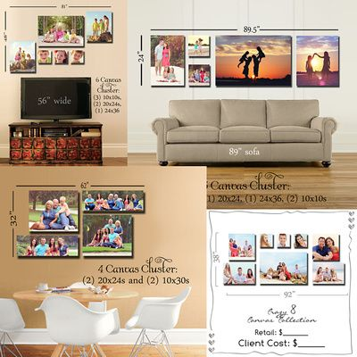 Photoshop Wall Canvas Grouping Templates