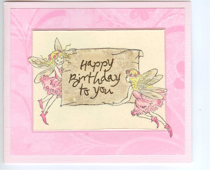 fairy message 4259G: Stamp-it Australia. Card by Susan of Art Attic Studio