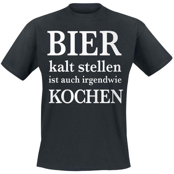 Bier kalt stellen T-Shirt schwarz online bestellen bei EMP