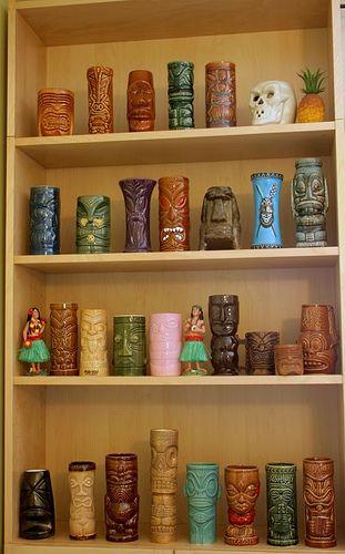 What a Great Collection of Tiki Mugs!  Vintage Tiki, Tiki Bar, Tiki Decor!