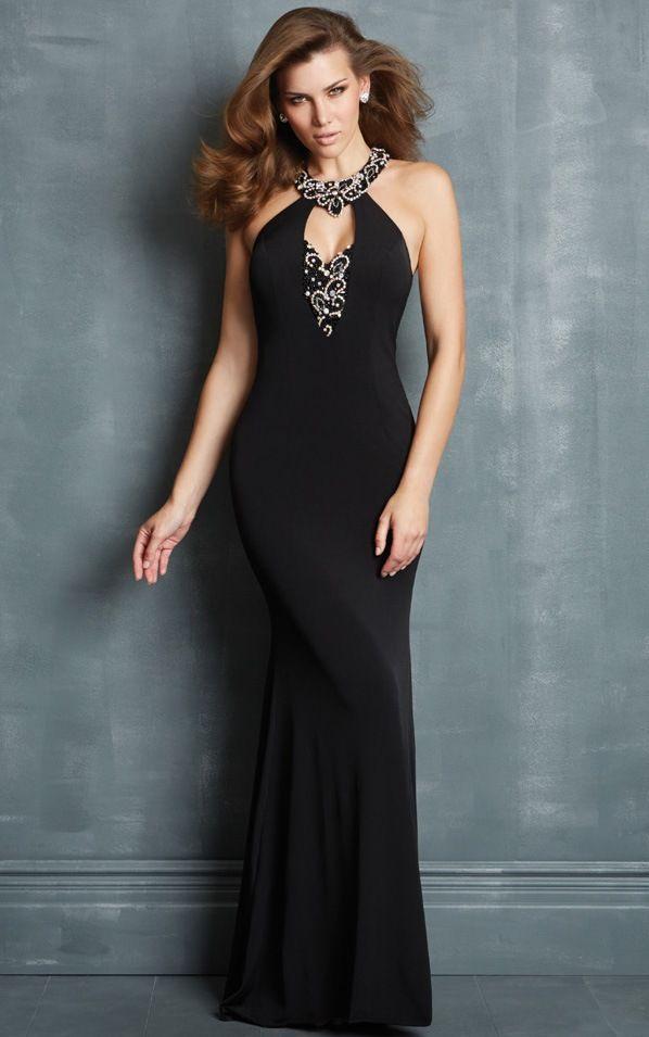 Siyah Uzun Abiye Modelleri  Gece Elbiseleri (7)