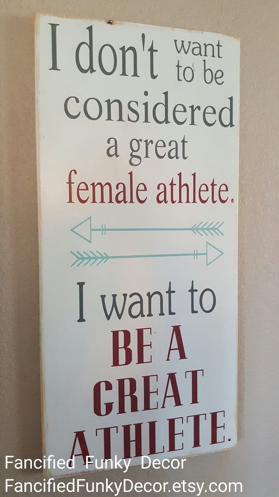 Great Athlete Female Athlete Sports Locker by FancifiedFunkyDecor