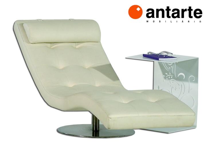 Chaiselong Barcelona  ANTARTE C 1700 L 600 A 900 >> DESDE 1014€ TECIDO    Mesa apoio em aço lacada com motivo | C 370 L 370 A 500 >> 446€