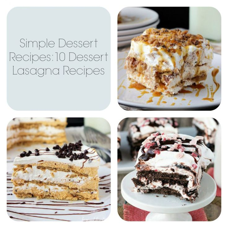 Simple Dessert Recipes: 10 Dessert Lasagna Recipes | TheBestDessertRecipes.com