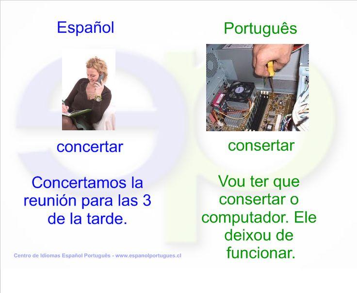 Falso cognado - CONCERTAR x CONSERTAR