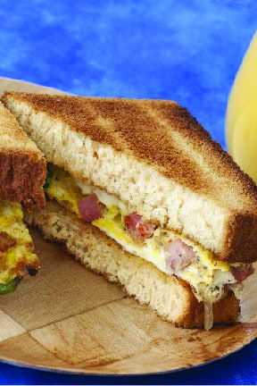 Denver Omelet Sandwiches for Two – This cheesy, savory sandwich recipe for two is quick, easy, and full of flavor. Plus, it's ready in just 15 minutes.