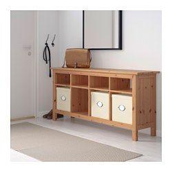 IKEA - HEMNES, Desserte, roux, , Le bois massif présente un aspect naturel.8 compartiments de deux tailles différentes ; permet de ranger des livres, magazines, accessoires, etc.Peut se placer derrière un canapé, le long d'un mur ou servir de séparateur de pièce.