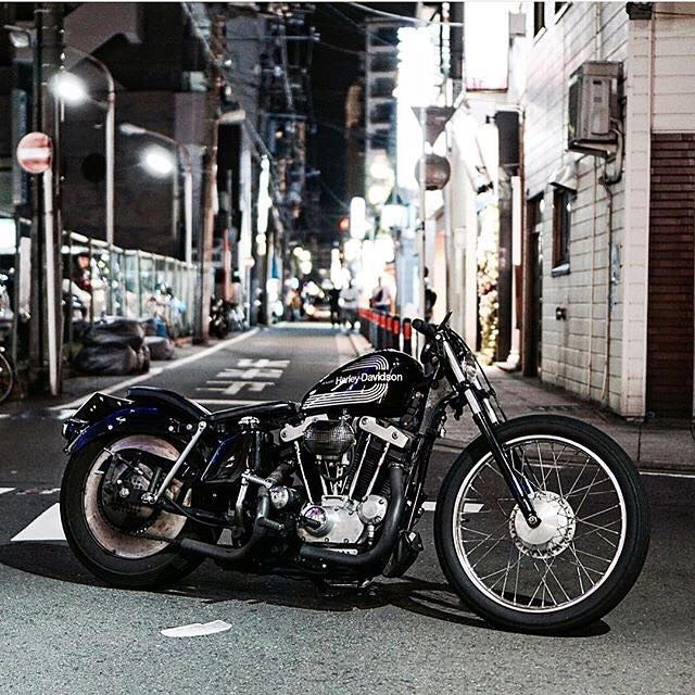 "lowbrowcustoms: ""@against9999 sick Ironhead.. : @bobberheads #swingarmy #ironhead #classy #sick #choppershit #buildsomething #buildit "" Ironhead"