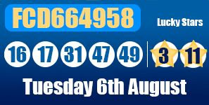 #Euromillions results for Tuesday 6th August along with the Millionaire Raffle: http://lotterypod.com/euromillions-results-6th-august/ #lottery