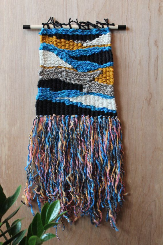 Handwoven Wall Hanging  Woven Tapestry  Weaving  by bourbongin