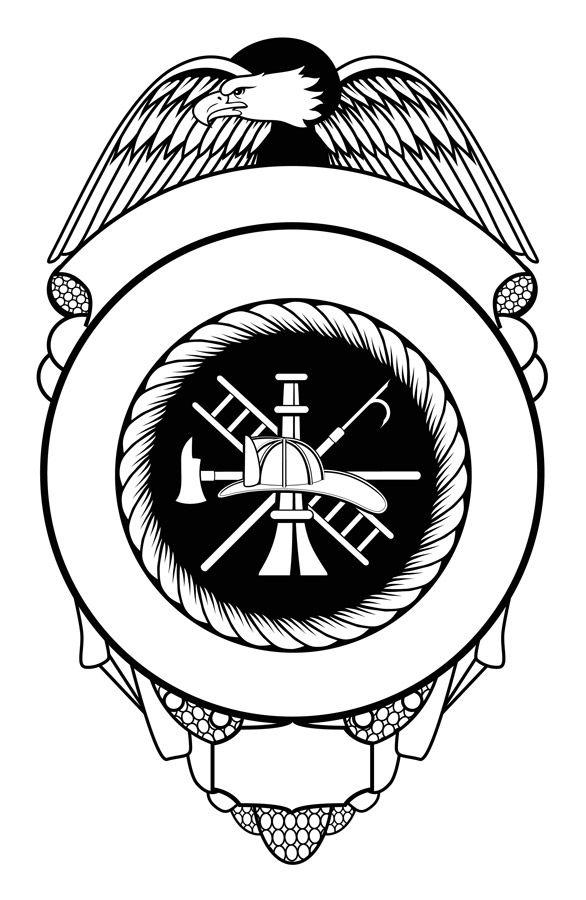 Firefighter Black And White Fire Department Maltese Cross Clip Art