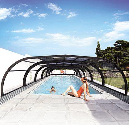 Une piscine, du soleil, un abri et des baignades à volonté ! #abripiscinerideau #elliptikmh