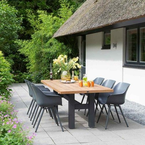 Design Gartenmöbel Alu Hartman Sophie Set 7 Tlg Sessel + Tisch  Terrassenmöbel Alu/Kunststoff