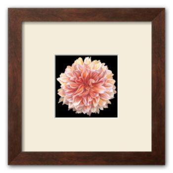 "Art.com ""Orange Dahlia"" Framed Art Print By Linda Mcvay"