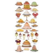 1 Sheet of Stickers French Desserts