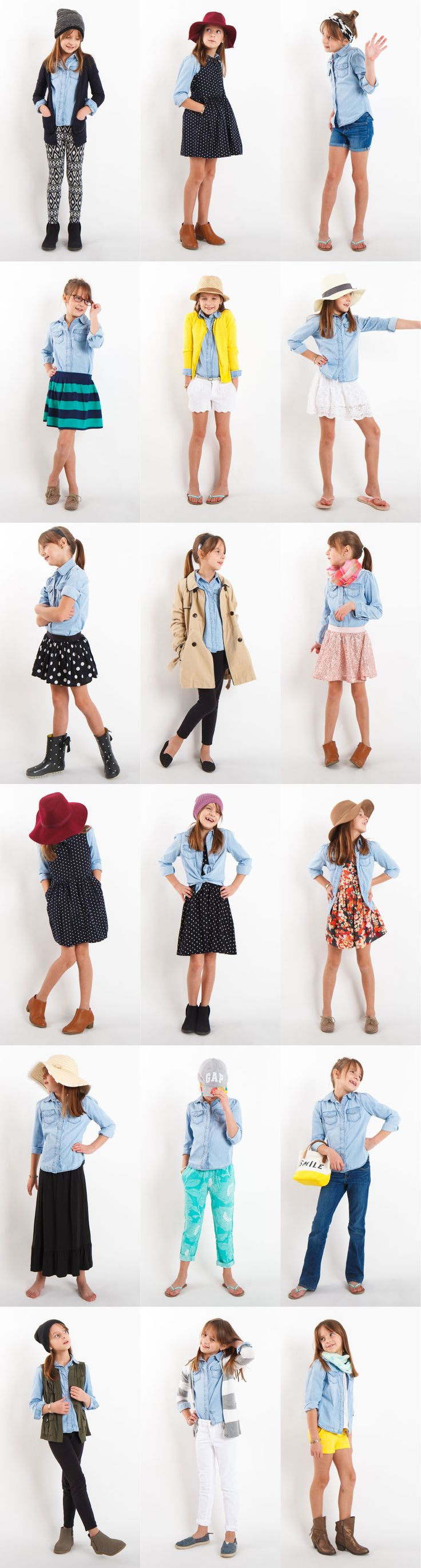 Alana's Chambray Shirt Project: 18 outfits with one chambray shirt!