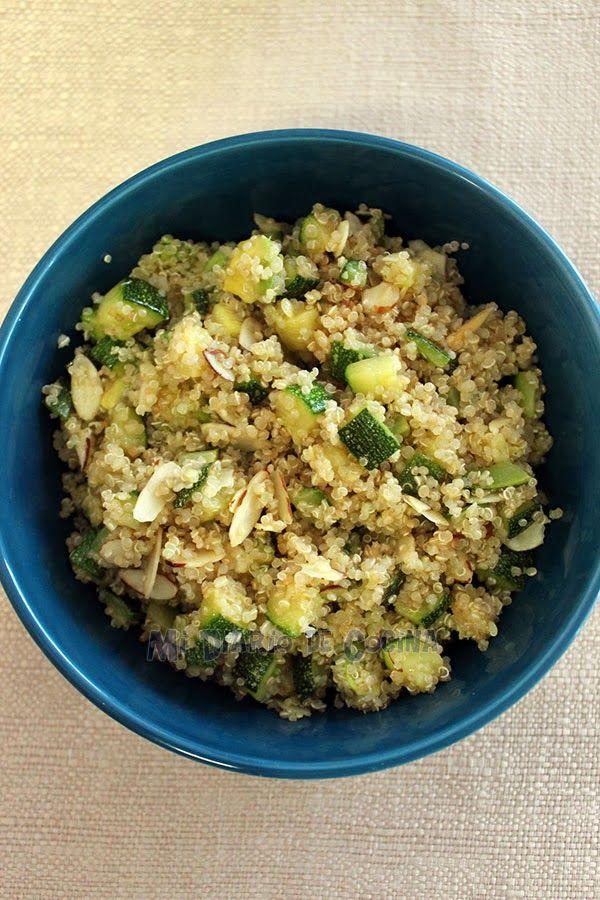 Mi Diario de Cocina | Ensalada de quinoa con zapallo italiano/palta y Ensalada de porotos verdes | http://www.midiariodecocina.com