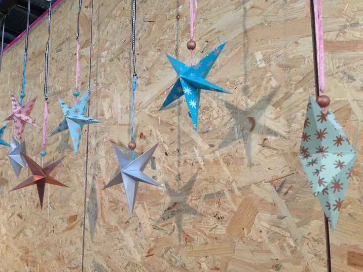 Christmas paper stars. www.aspegren.dk