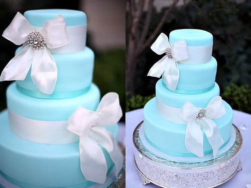 Tiffany Blue wedding cake @Samantha Nees