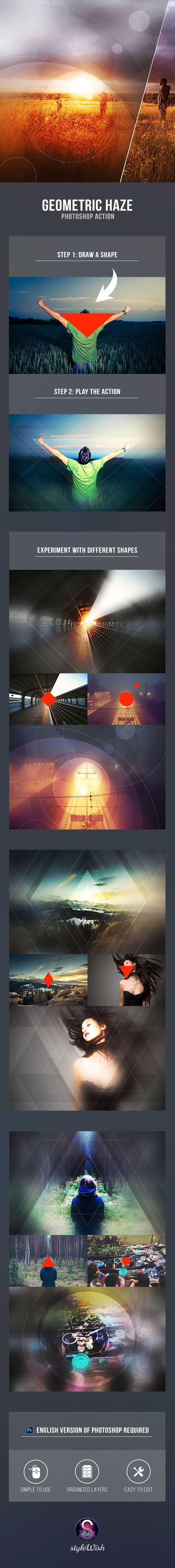 Geometric Haze Photoshop Action - Photo Effects Actions