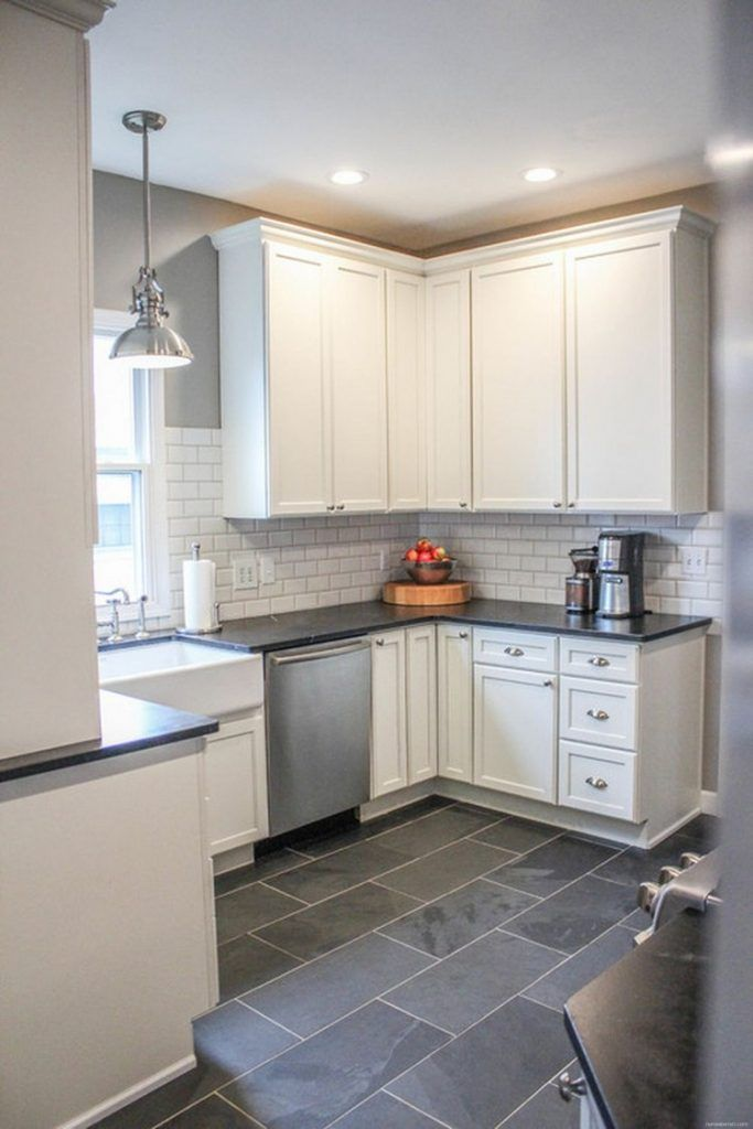 Outstanding Porcelain Tile Kitchen Floors Ideas 19 Grey Kitchen