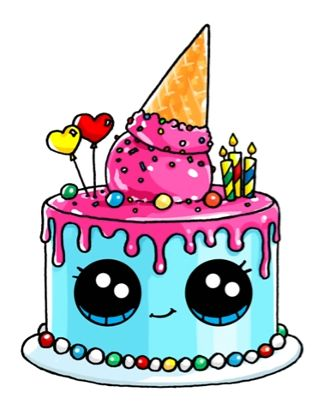 Pictures Of Birthday Cakes Drawings : 21041 best Cute Kawaii Shop images on Pinterest Kawaii ...