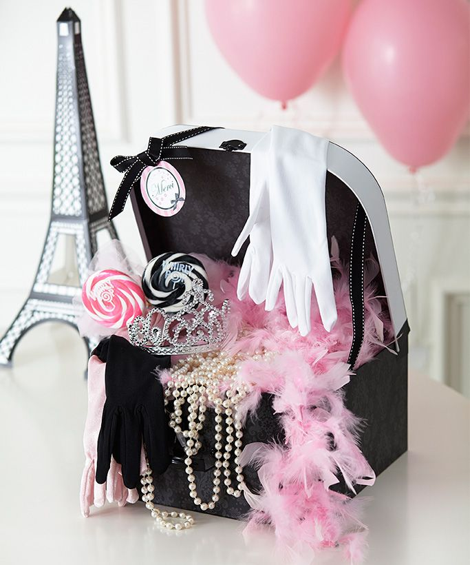 Paris Damask Birthday Favors