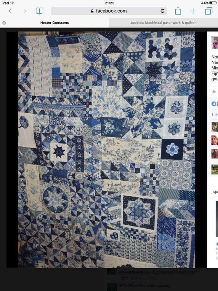 Dutch quilt in blue
