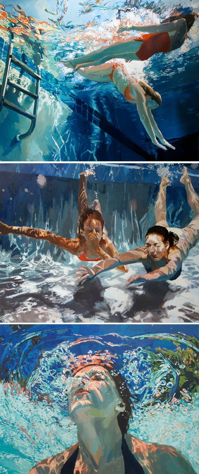 Underwater paintings by Samantha French