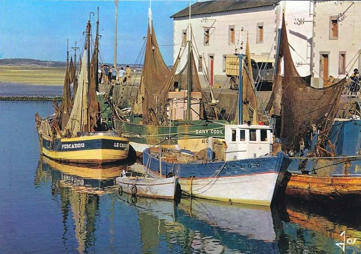 Le Croisic fishing boats, France 1960s