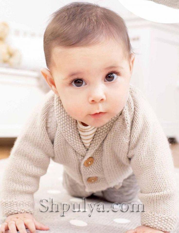 Размер: 62/68/74/80/86/92 Возраст: 3/6/9/12/18/24 мес. Вам потребуется: 3/3/4/4/5/5 мотков бежевой 01005 пряжи Schachenmayr Baby Smiles Merino Mix (50% шерсти, 50% полиамида, 50 г/120 м),или