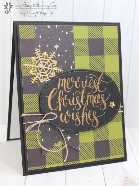 Stampin' Up! Watercolor Christmas in Black, Green and Gold – Stamp With Amy K