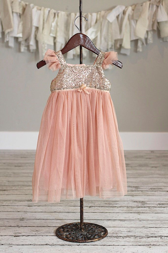 Sale-Peach Gold Sparkle Dress. Baby Toddler Little Girl Ruffle Outfit by TheRitzBoutique on Etsy https://www.etsy.com/listing/253707036/sale-peach-gold-sparkle-dress-baby