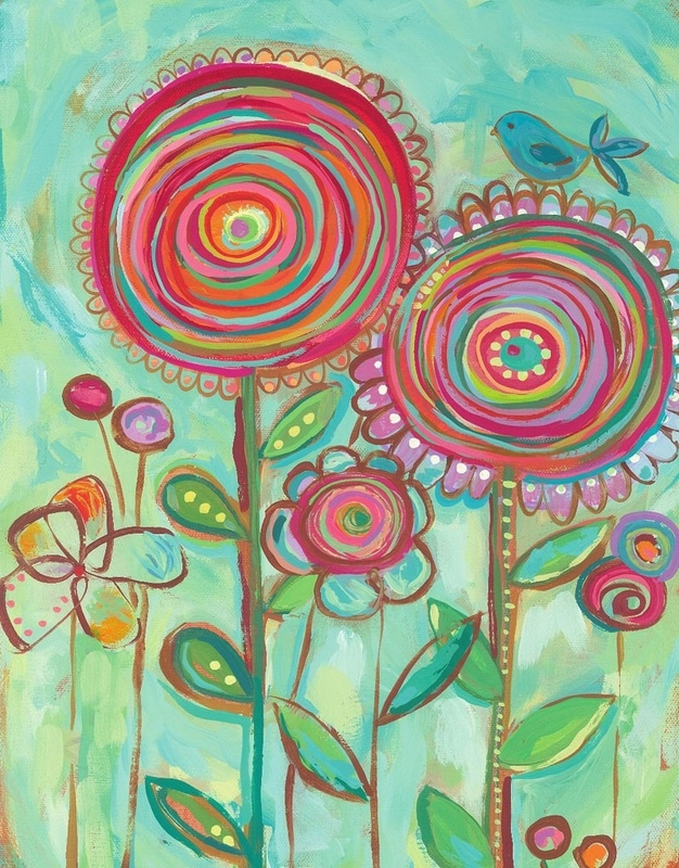 flowers...try spiral cut papers for collage-mixed media flowers