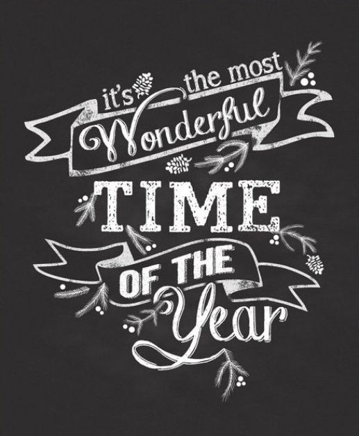 It's the most wonderful time of the year! #clackboard #blackboard / È il più bel periodo dell'anno! #lavagna